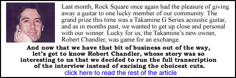 RC interview with Rock Square magazine