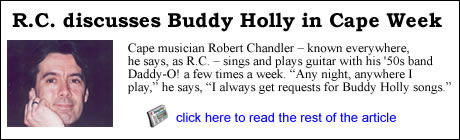 R.C. discusses Buddy Holly in the Cape Cod Times