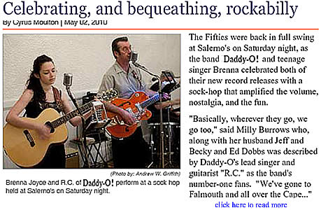 Daddy-O! in the news - Wareham Week May 2, 2010 - Celbrating and bequething Rockabilly